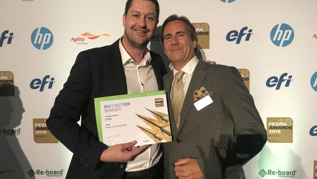 Sÿnia distinction FESPA awards