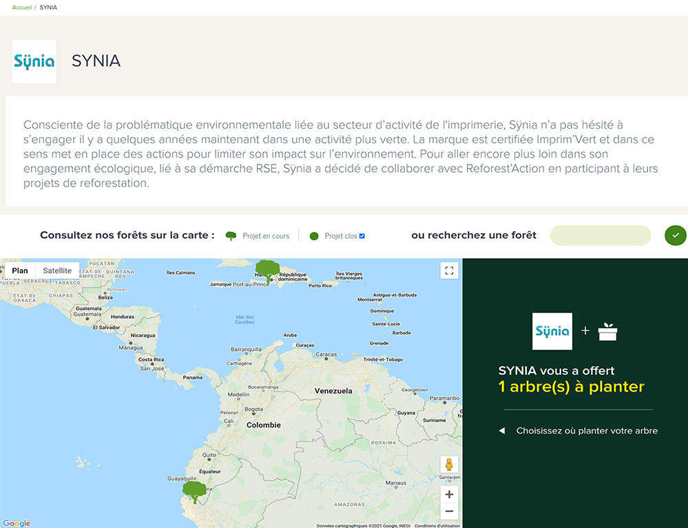 rse Synia environnement reforest action arbres